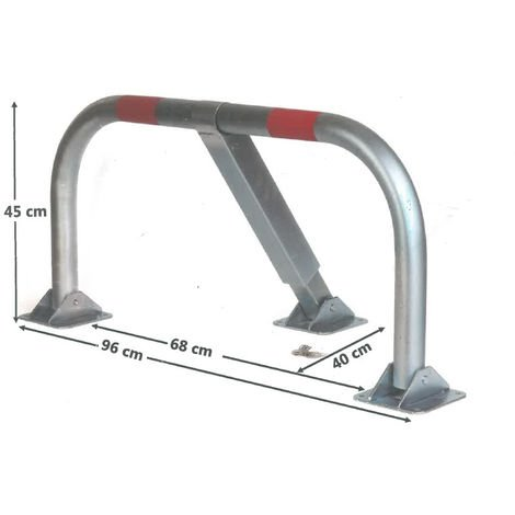 Barrière de parking BLINDOMAX arceau à clé avec cylindre - 158