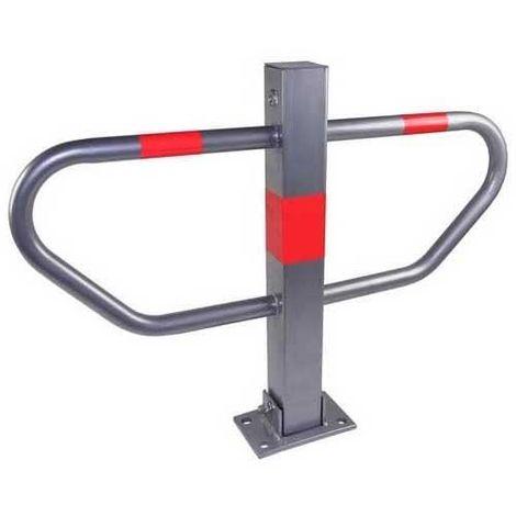 Barrière de parking rabbatable poteau de parking manuel en métal avec à fixer pour les voitures autocollants rouges,Barrière de parking rabattable