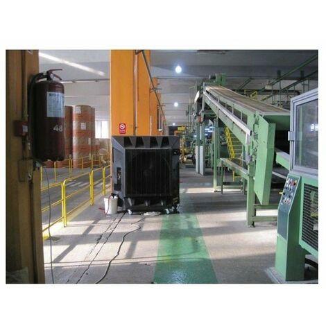 Barriere de securite acier avec platine - tube ø40mm - noir - jaune l 1000 x h1000