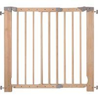 Barriére de sécurité amovible bois réglable Nordlinger - Longueur 70 à 103 cm - Marron
