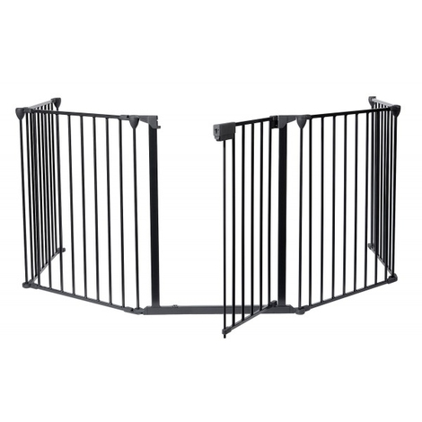 Barrière de Sécurité, Barrière Ajustable pour Cheminée, 300 x 75 cm déplié, Dimensions du produit replié: 80 x 68 x 14 cm