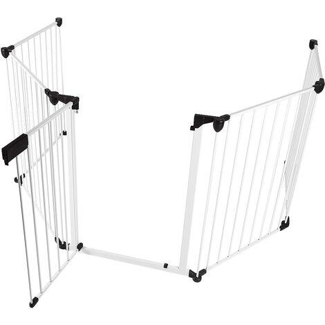 Barrière de Sécurité Blanc 310*2.5*75cm
