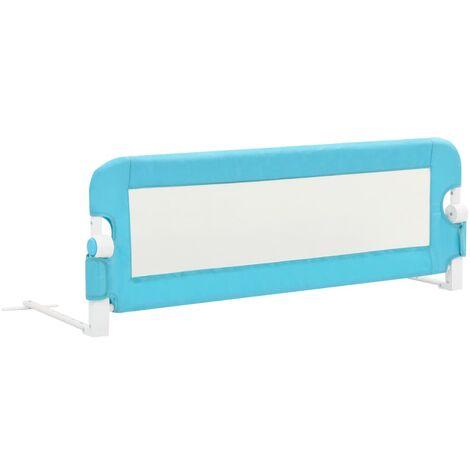 Barrière de sécurité de lit enfant Bleu 120x42 cm Polyester