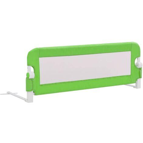 Barrière de sécurité de lit enfant Gris 120x42 cm Polyester