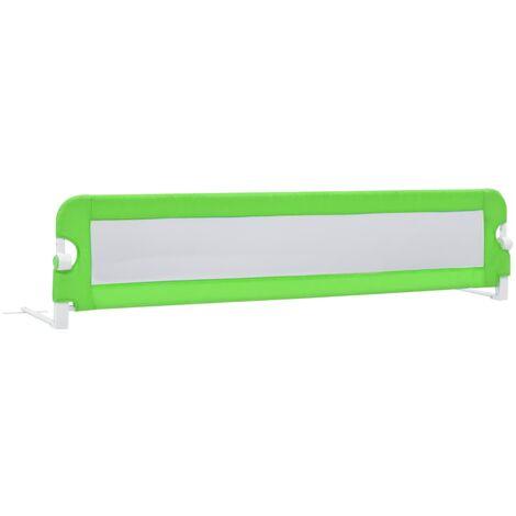 Barrière de sécurité de lit enfant Vert 180 x 42 cm Polyester