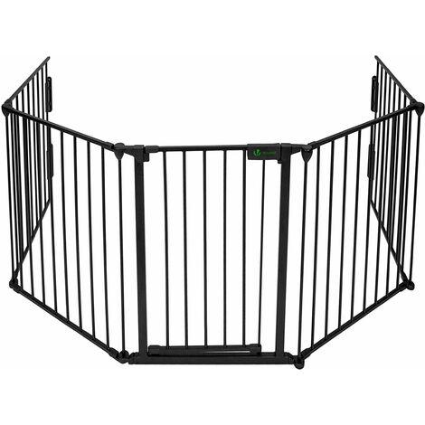 Barriere de securite enfant GRANDE VERSION 3M 5 panneaux Pre assemble
