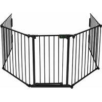 Barrière de sécurité enfant - GRANDE VERSION 3m10 | Barrière de protection cheminée | 5 panneaux – Pré-assemblé
