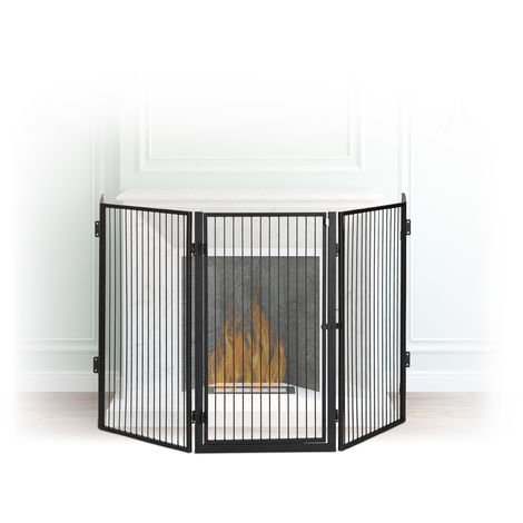 barri re de s curit pare feu de chemin e grille enfant. Black Bedroom Furniture Sets. Home Design Ideas