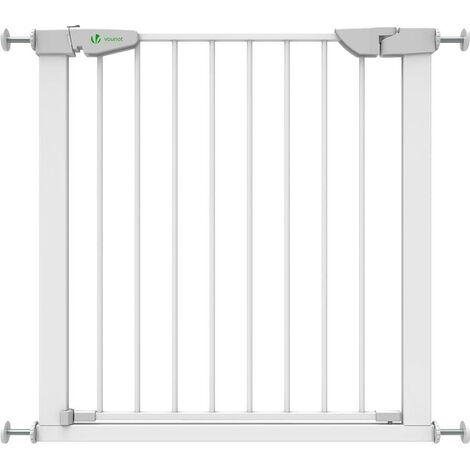 Barriere de Securite porte et escalier blanc pour enfants et animaux 74-86cm
