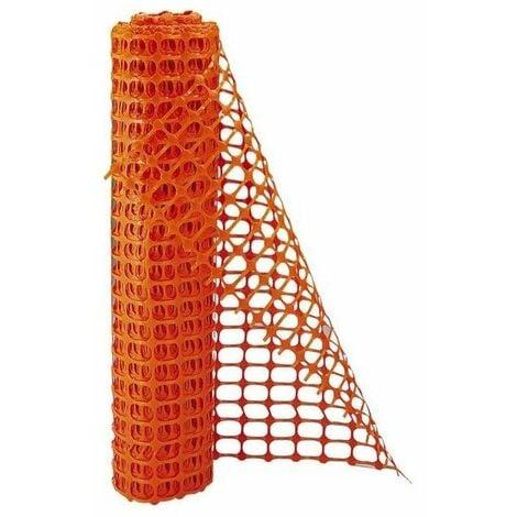 Barriere de signalisation grillage de protection orange rouleau 50 m
