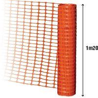 Barrière de signalisation orange 1m20 traité anti UV