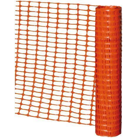 Barrière de signalisation plastique Orange 1Mx50ml - Taliaplast - 610101