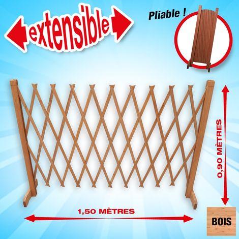 Barrière en bois extensible 90x150cm