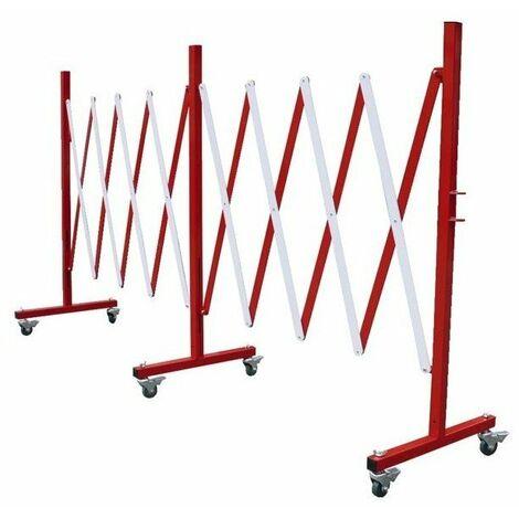 Barriere extensible pliable acier peint extensible jusqu a 4m