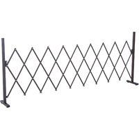 Barrière extensible rétractable barrière de sécurité 250L x 31l x 104H cm alu métal chocolat 37