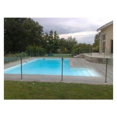 Barriere piscine Oceanix en verre et inox 1.5m