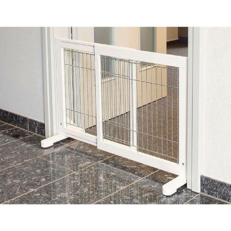 Barriere de securite - 65-108x61x31 cm - Blanc - Pour chien Trixie