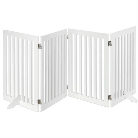 Barrière protection, Grillage pour chiens réglable, Enfants, cheminée et four, MDF, 70x206,5cm,blanc