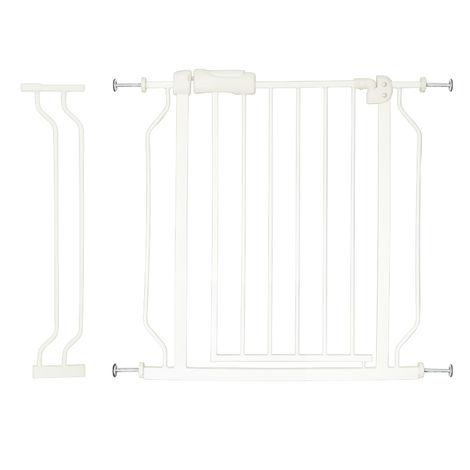Barrière Sécurité Blanc 74x80cm Extensible à 84 cm Enfants & Animaux Grille Protège Escaliers