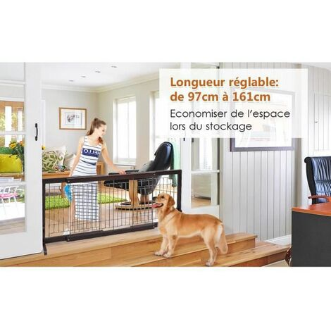 barri re s curit pour chien extensible barri re de. Black Bedroom Furniture Sets. Home Design Ideas