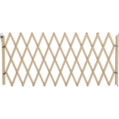 Barrière Stopmax, en bois brut, extensible à 230cm