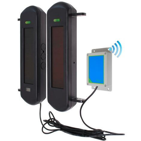 Barrières infrarouges 100% autonomes solaires double faisceaux avec émetteur IP65 (gamme PROTECT 800)