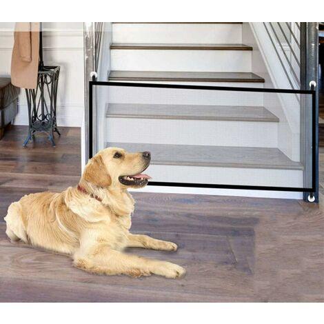 Barrières pour chiens, garde de porte pour chiens portables, garde de chien pliable, barrière d'escalier, barrière pour chiens de compagnie, chats 180 * 75 CM
