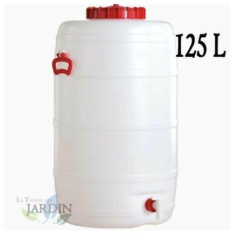Barril de polietileno alimentario 125 litros para liquidos y bebidas
