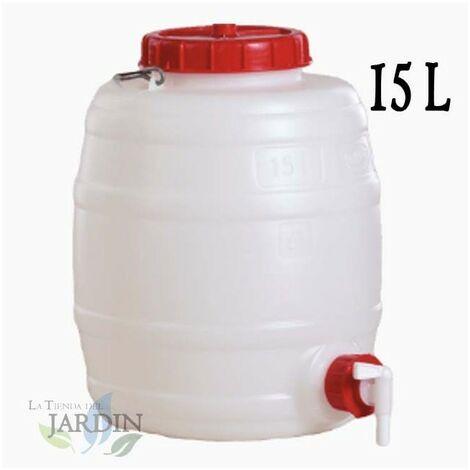 Barril de polietileno alimentario 15 litros para liquidos y bebidas