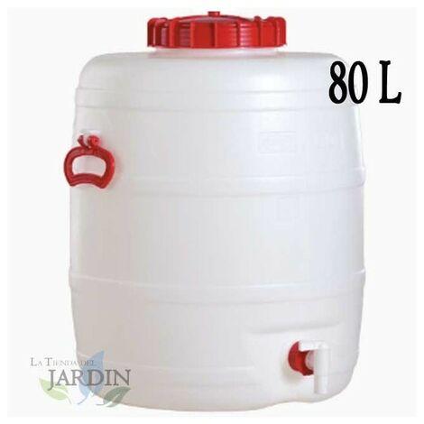 Barril de polietileno alimentario 80 litros para liquidos y bebidas