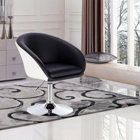 Barsessel Kunstleder 2-farbig Modell schwarz-weiß