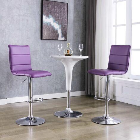 Barstühle 2 Stk. Lila Kunstleder