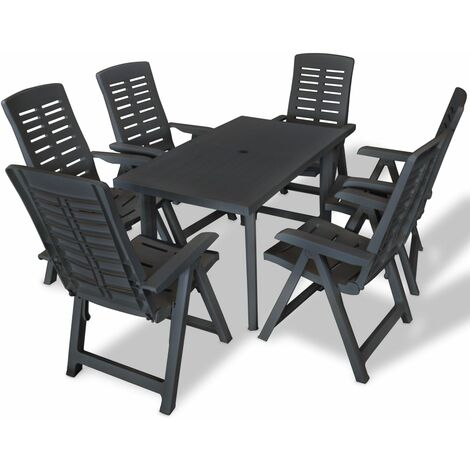 Bartels 6 Seater Dining Set by Dakota Fields - Grey