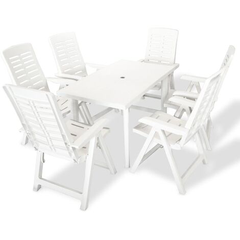 Bartels 6 Seater Dining Set by Dakota Fields - White