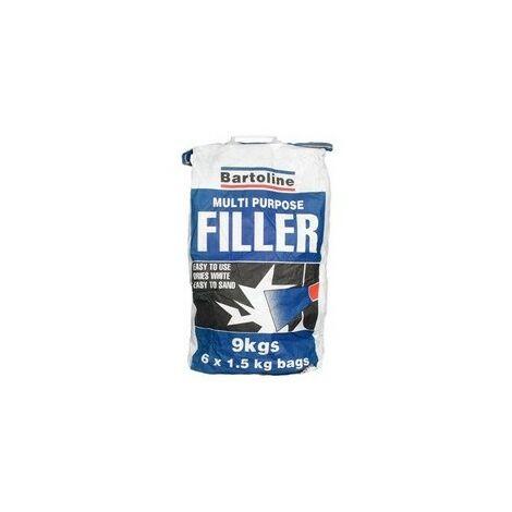 Bartoline 52710018 Multi Purpose Powder Filler 9Kg Sack (6 x 1.5Kg Sachet)