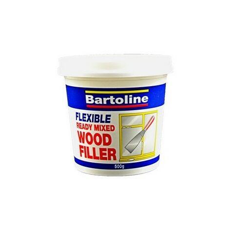 Bartoline 52720230 Flexible Wood Filler White 500g Tub
