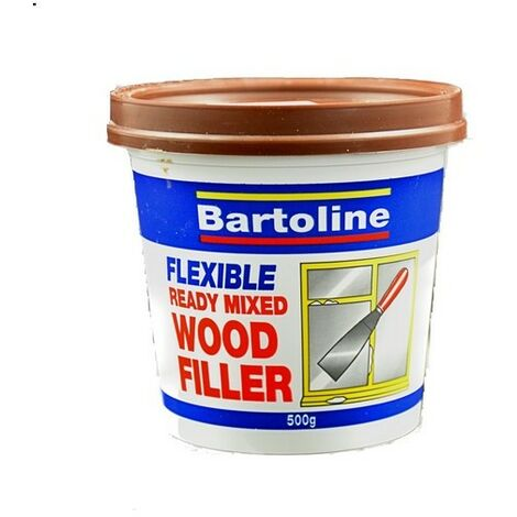 "main image of ""Bartoline 52720240 Flexible Wood Filler Brown 500g Tub"""