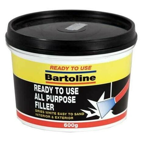 Bartoline 52720351 Ready To Use All Purpose Filler Interior and Exterior 600g Tub