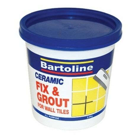 Bartoline 52850150 Fix and Grout Tile Adhesive 500g Tub