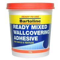 Bartoline 58510973 Easipaste Ready Mixed Wallcovering Adhesive 1kg Tub