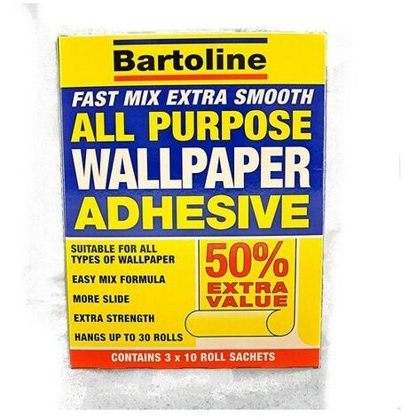 Bartoline 59943260 All Purpose Wallpaper Adhesive 30 Roll 36 Pint