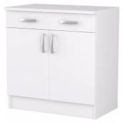 "main image of ""Bas de cuisine coloris blanc - Dim : 80,1 x 85 x 60 cm - PEGANE -"""
