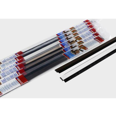 Bas de Porte Adhésif Alu PVC + Brosse 100cm Sachet Accrochable