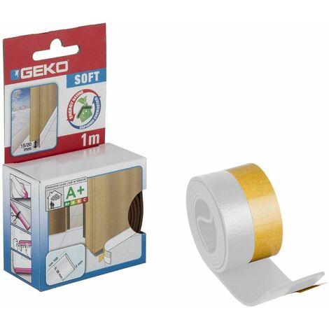 Bas de porte adhésif en PVC souple, 38mm x 100cm, blanc