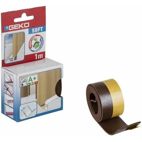 Bas de porte adhésif en PVC souple, 38mm x 100cm, marron