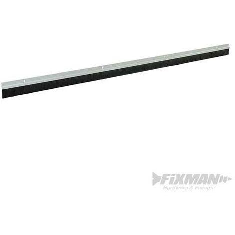 Bas de porte de garage, poils de 25 mm, Blanc, 2 x 1 067 mm
