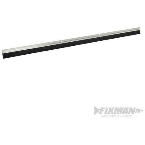 Bas de porte de garage, poils de 25 mm, Aluminium, 2 x 1 067 mm