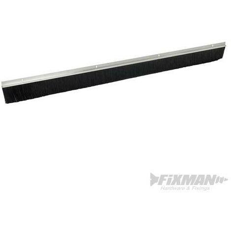 Bas de porte de garage, poils de 50 mm, Aluminium, 2 x 1 067 mm