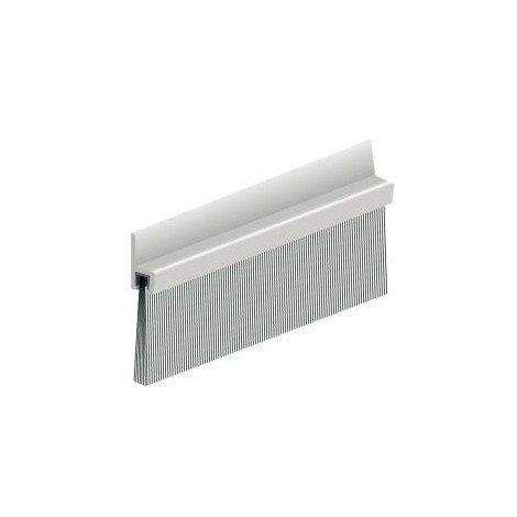 Bas de porte en aluminium avec brosse IBS 50 100cm