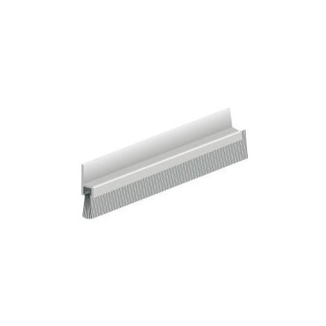 Bas de porte en aluminium avec brosse IBS31 - 100 cm - 0308201D - ELLEN -